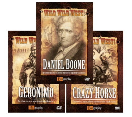 LEGENDS OF THE AMERICAN WILD WILD WEST DOCUMENTARIES COLLECTION NEW 3 DVD R4