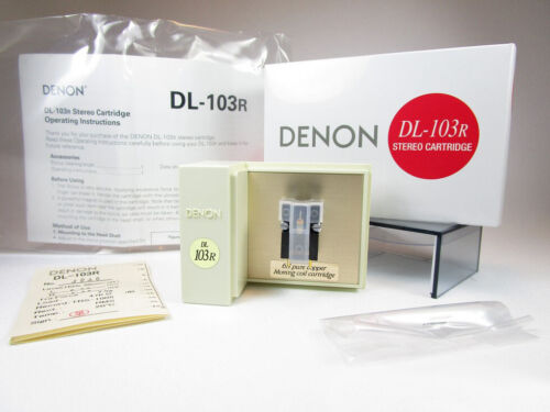 Denon DL-103R moving coil cartridge. Brand new stock with warranty.