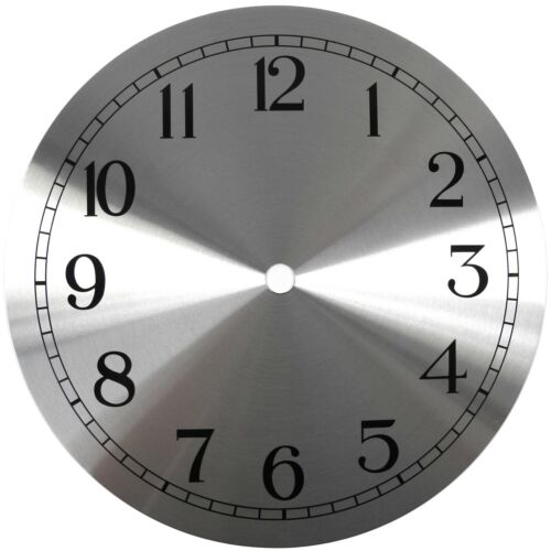 Spun Silver Replacement Clock Dial 6 inches 152mm Arabic Figures Clocks - CD360
