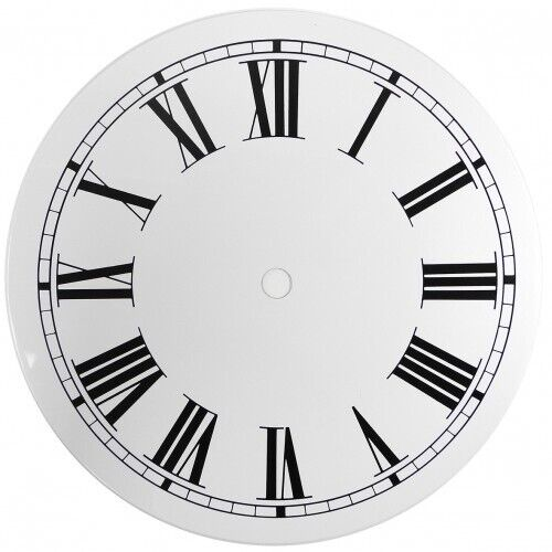 NEW White Replacement Clock Dial 14 inches 354mm Roman Numerals Clocks - CD414