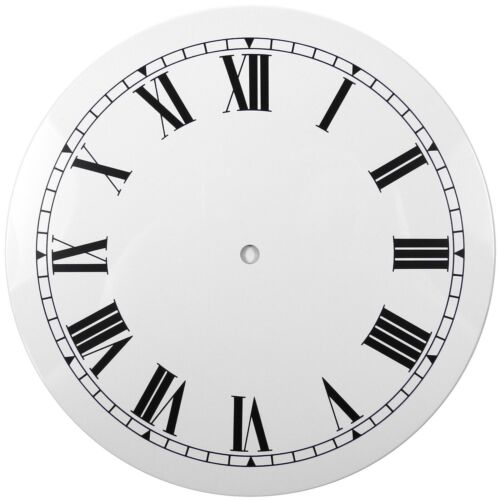 NEW White Replacement Clock Dial 10 inches 254mm Roman Numerals Clocks - CD410