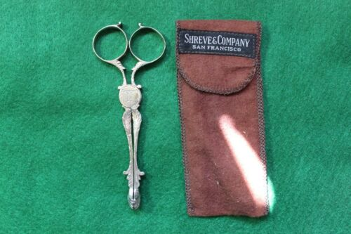 Antique 18th c George III English Silver Sugar Nippers Tongs London E Coker