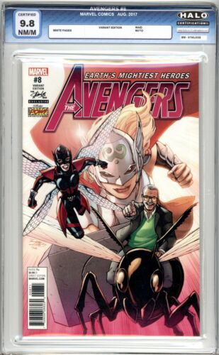 Stan Lee Box Exclusive: Avengers #8 HALO Graded (9.8 NM/M) 2017 - Variant