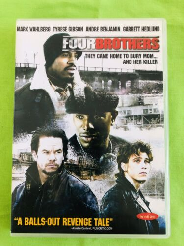 Four Brothers. DVD (2005) Mark Wahlberg, Tyrese Gibson. Region 3. Good Condition