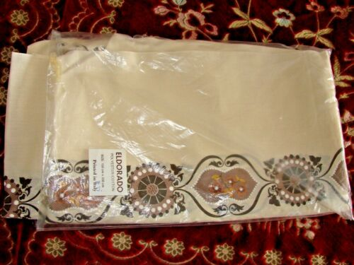 Vintage Eldorado Italy 150cm x 350cm Tablecloth NIP Poly/Cotton