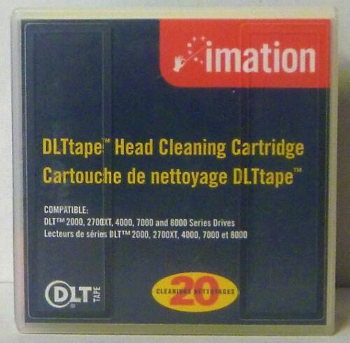 Imation 12919 DLT Cleaning Cartridge - 20 Cleanings, DLT IV, III, and IIIXT