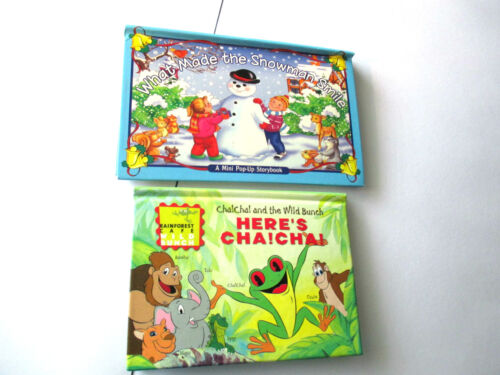 Mini Pop-Up Books HERE'S CHA! CHA! WILD BUNCH, What Made the Snowman Smile