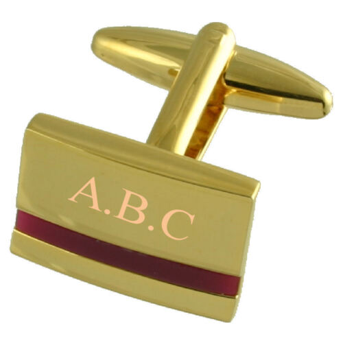 Purple Amethyst Gold Cufflinks Engraved Personalised With Select Gift Pouch