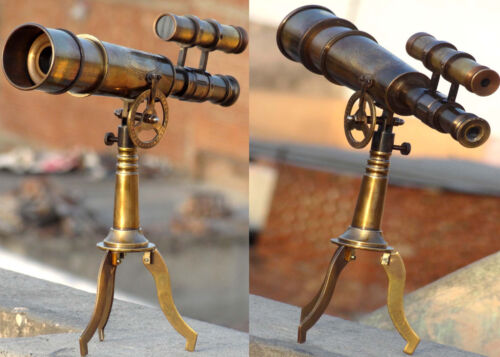 KELVIN AND HUGHES LONDON 1915 ANTIQUE TELESCOPE WITH STAND COLLECTIBLE TELESCOPE