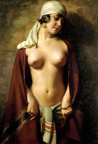 Classical oil painting nude woman Giclee Art Printed on canvas L2631