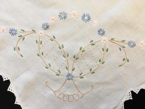 EMBROIDERED TABLECLOTH c1940's