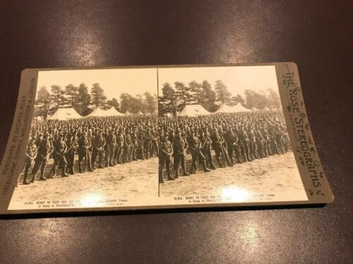 VINTAGE PHOTO STEREOGRAPH AUSTRALIAN MILITARY FORCE ANZAC INFANTRY BROADMEADOWS