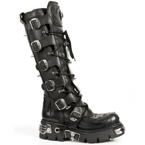New Rock Fire Demon Leather Boots - 161-S1 - Gothic,Goth