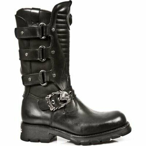New Rock Biker Leather Boots - 7604-S1 - Gothic,Goth