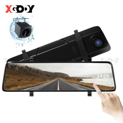 "10"" 1080P Car Rear View Mirror Full Screen DVR Camera Dash Cam Security Night"