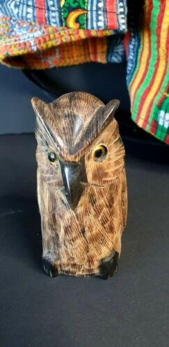 Old Asian Carved Horn Owl …beautiful collection piece