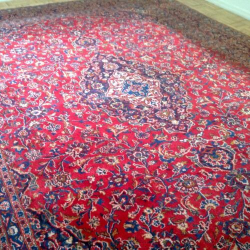 """Stunning Vintage Antique Hand-knotted Rug 12' 8"""" x 9' 8""""  (002)"""
