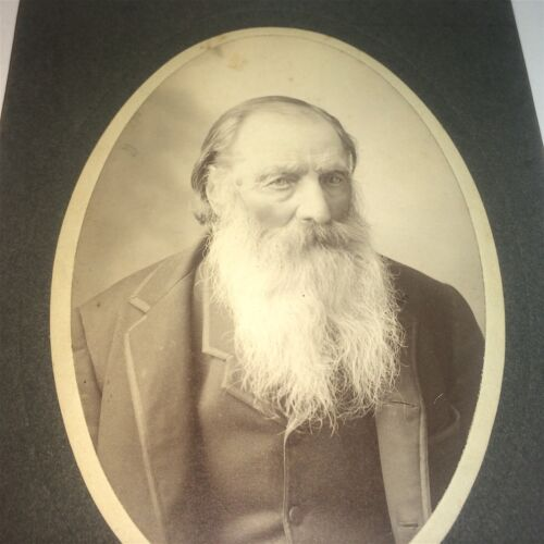 Rare Antique American ID'd Man, Niles Peter Sjolund 87 Years Old Cabinet Photo!