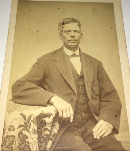 Antique Victorian American Dapper Fashion Man Manchester New Hampshire CDV Photo