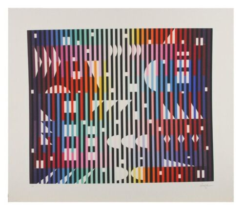 """""""Night Rainbow"""" by Yaacov Agam Serigraph on Paper Artist's Proof 22.5"""" x 22"""""""
