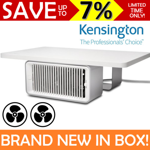 NEW Kensington Coolview Wellness Monitor Stand Built In Dual USB Fan 55855