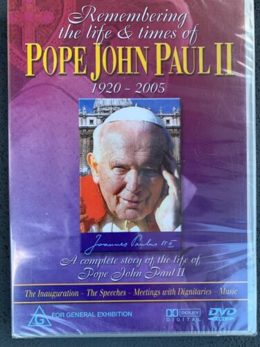 REMEMBERING the LIFE & TIMES of POPE JOHN PAUL II / 1920 - 2005 DVD (NEW SEALED)