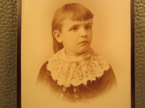 Victorian Antique Cabinet Card Photo of Young Girl Child Kid
