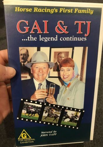 Gai Waterhouse And TJ - The Legend Continues VHS TAPE (Australian horse racing)