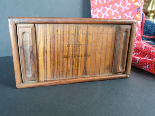 Old Jerusalem Roll Top Wooden Box …beautiful collection and display piece