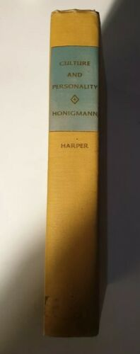 Culture and personality by honigmann .- hard cover book - free post