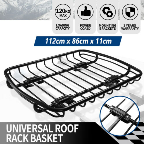 San Hima Universal Steel Roof Rack Carrier Basket Car Luggage Vehicle Cargo <br/> ✔Top Seller✔Free Delivery✔Fast Dispatch✔AU Stock