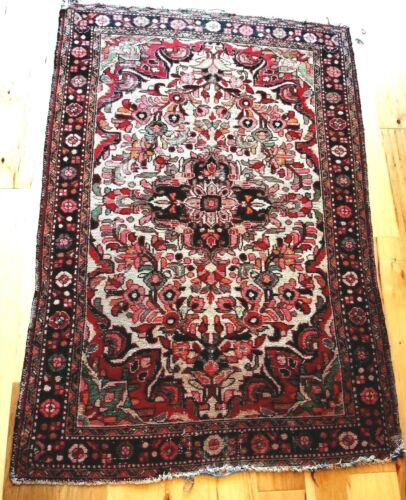 "PRAYER RUG Handmade Parlor Handwoven Oriental Area Carpet 41"" x 61"""