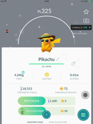Shiny Pikachu summer hat Pokemon Go limited edition very rare FOR COLLECTORS