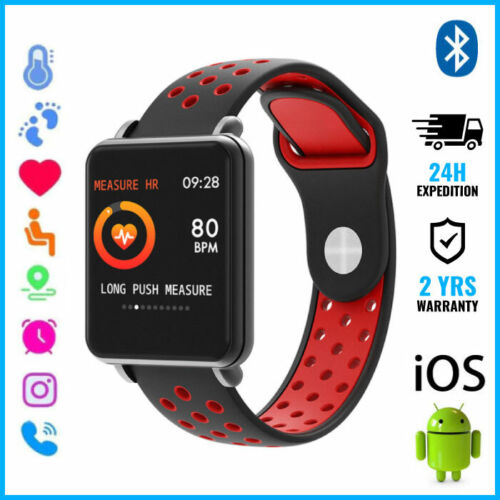 COLMI Land 1 Smart Watch Montre Bluetooth SIM Slot Android iOS Red Two-Tone