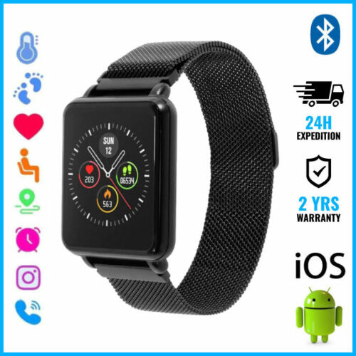 COLMI Land 1 Smart Watch Montre Bluetooth SIM Slot Android iOS Black Magnetic