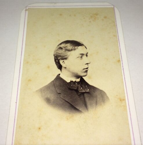 Antique American Civil War Era Victorian Man, Rhode Island CDV Photo! Tax Stamp!