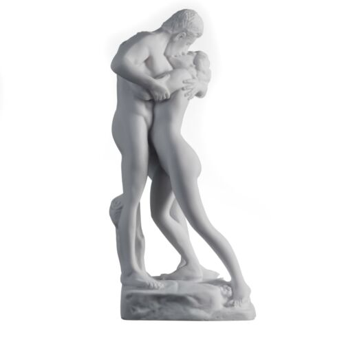 The Kiss Nude Couple-Wedding-Anniversary-Gift-Love Statue Alabaster  12.2""