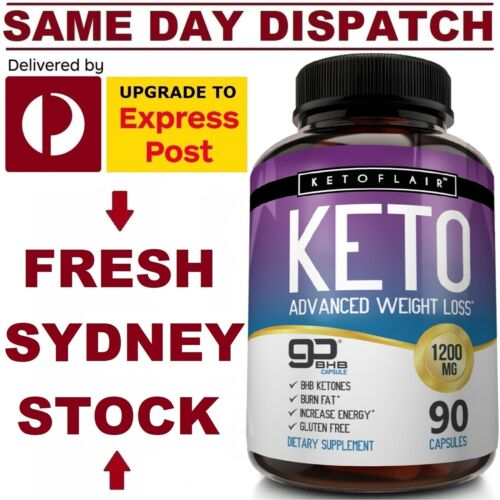 KetoFlair KETO BHB Diet Pills ADVANCED WEIGHT LOSS KETOSIS 1200mg 90 Caps VALUE! <br/> ✅ ADVANCED Formula ✅ DOUBLE Strength ✅ FAST Dispatch