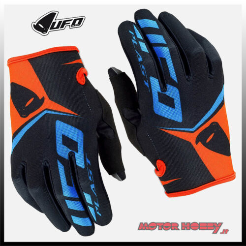 MTB BMX DH Guanti Adulto Cross Enduro Ufo Trace Rosso Mx Gloves Red