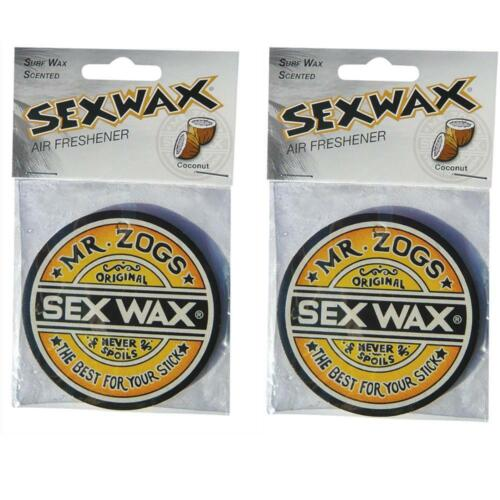 2x Sex Wax Coconut Car Air Freshener