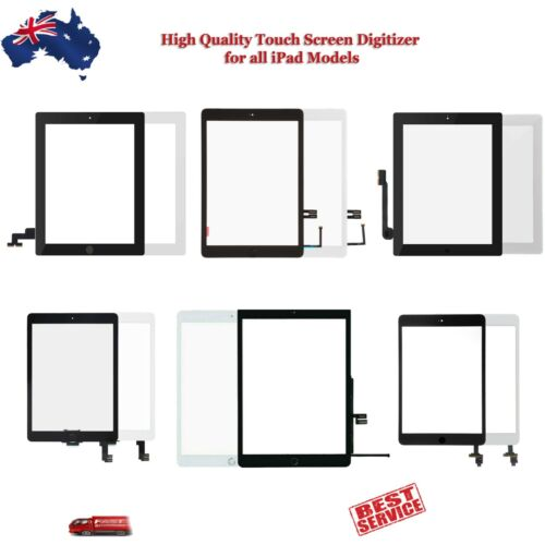 iPad Touch Screen Digitizer Assembly iPad 2 3 4 5 6 Air Mini 2 3 4 with Adhesive