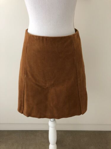 Veda Gianna Suede Skirt Sand Size S