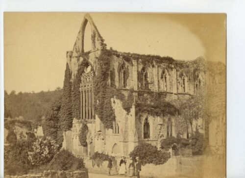 Vintage Cabinet Card 8 x 10 Ruins of a Cathedral Possibly Stroud Area of England