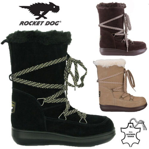 ROCKET DOG LADIES LEATHER FUR LINED WINTER SNOW WARM WALKING HIKING BOOTS SIZE <br/> SPECIAL OFFER***ONE WEEK ONLY***RRP £59.95