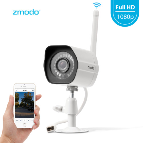 Zmodo 1080p Wifi Outdoor Home Security Camera,night Vision Remote Monitoring