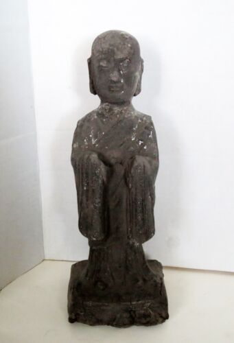 Ancient CHINESE GUARDIAN TOMB ATTENDANT Antique - Pottery Statue Sculpture