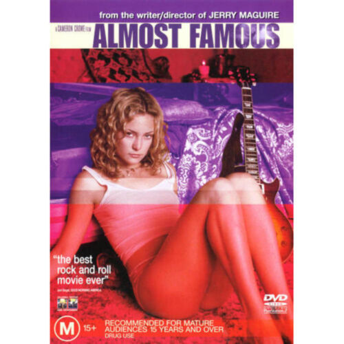 ALMOST FAMOUS - BRAND NEW & SEALED R4 DVD (KATE HUDSON, JASON LEE, ANNA PAQUIN)