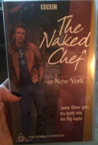 Jamie Oliver VCR The Naked Chef In New York Cooking Video Tv Series BBC