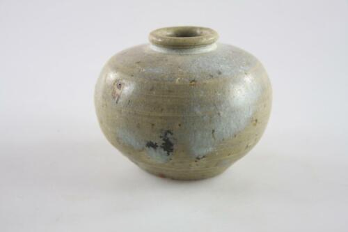 ANTIQUE KHMER CAMBODIA CERAMIC SMALL POT CIRCA 13TH CENTURY