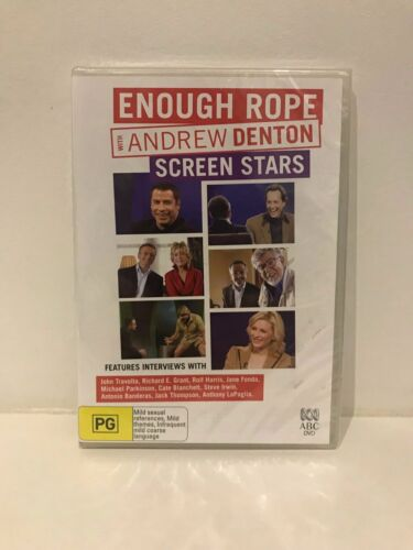 Enough Rope With Andrew Denton - Screen Stars NEW/sealed region 4 DVD (2 discs)